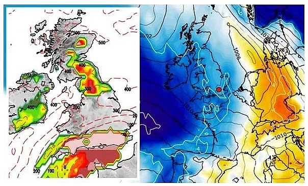 """UK and Europe weather forecast latest, November 5: London in """"firing line"""" with snow sweeping across Britain"""