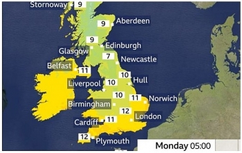 uk and europe weather forecast latest november 9 britain sets to bear hot southern air