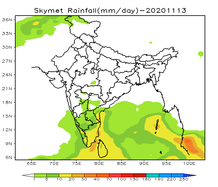india weather forecast latest november 13 thunderstorm with lightning to batter some isolated places