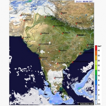 india weather forecast latest november 14 bearing a gradual increase in minimum temperature in some parts