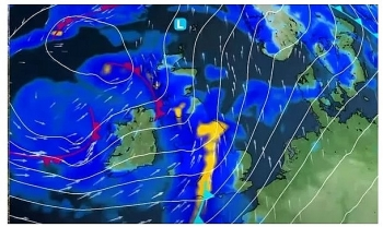 uk and europe weather forecast latest november 16 a large band of rain to spread the uk in two days