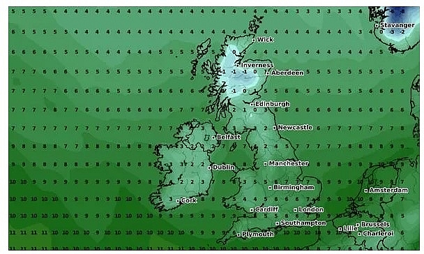 UK and Europe weather forecast latest, November 18: Snow showers by Atlantic blast set to batter Britain