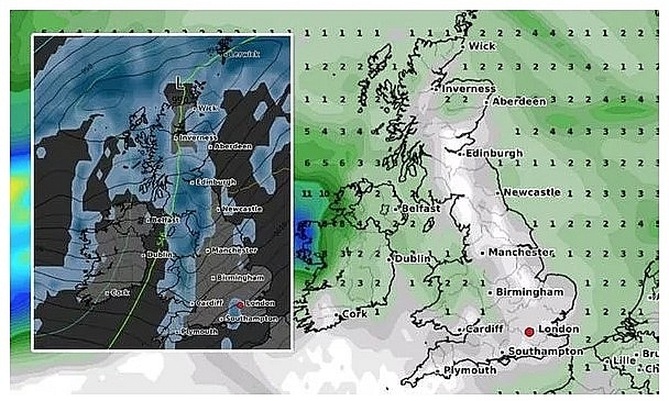 UK and Europe weather forecast latest, November 20: Icy temperatures with downpours and windy conditions to cover Britain