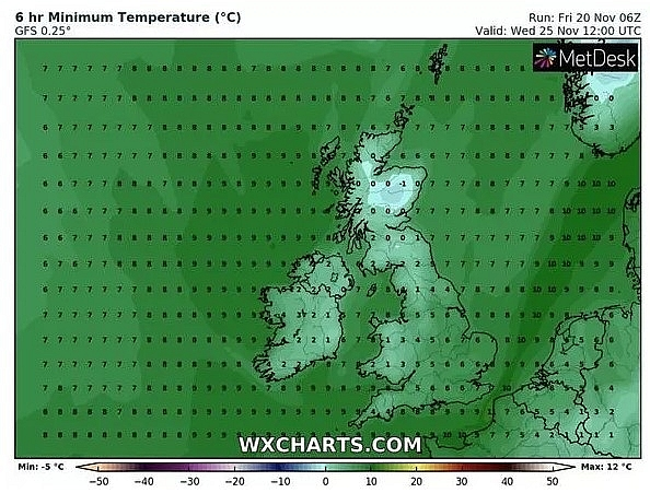 UK and Europe weather forecast latest, November 22: Maximum temperature at 13C with cloud and drizzle at times