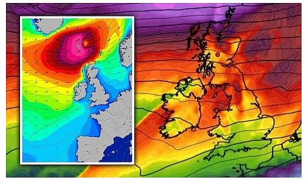 UK and Europe weather forecast latest, November 23: Gusts and snow set to cover Britain