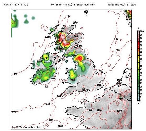 UK and Europe weather forecast latest, November 29: