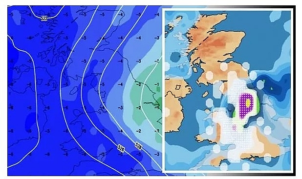 UK and Europe weather forecast latest, December 1: Temperature plunges and five day snow blitz expected in the UK