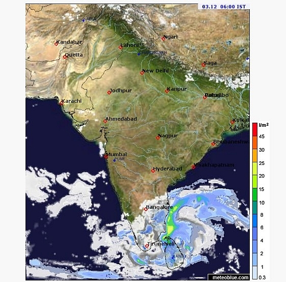 India weather forecast latest, December 3: Heavy rainfall by Cyclone Burevi brewing over southwest Bay of Bengal