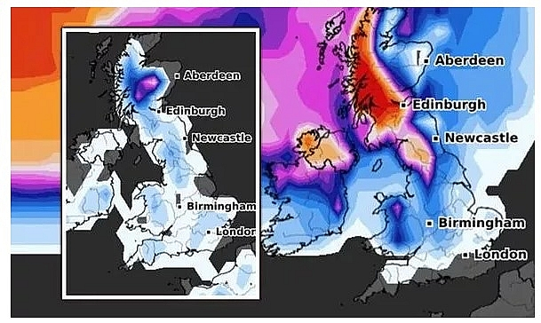 UK and Europe weather forecast latest, December 4: Ferocious chill with five day snow bomb to hit Britain