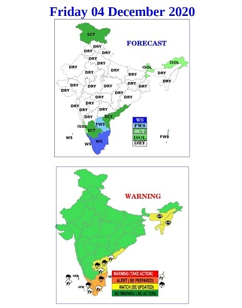India weather forecast latest, December 4: Red alerts issued for 4 districts of Kerala due to Cyclone Burevi