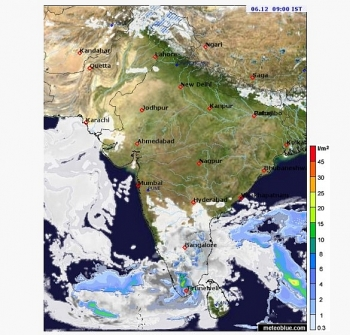 india weather forecast latest december 6 two western disturbances with widespread snowfall set to batter