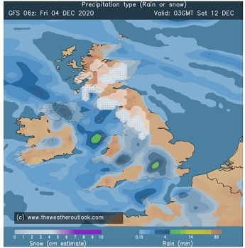 uk and europe weather forecast latest december 7 chilly temperatures linger with gales snowfall and icy rain