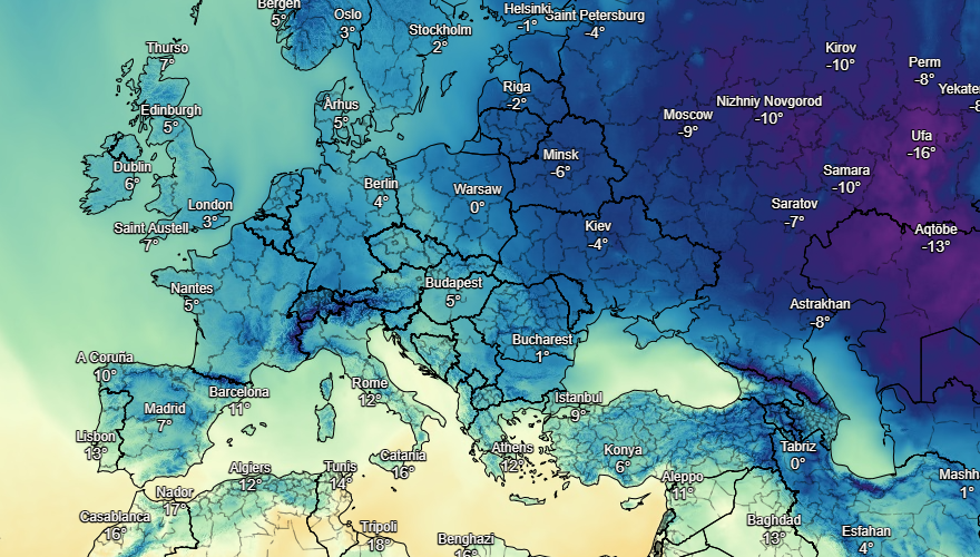 UK and Europe weather forecast latest, December 9: Temperatures plummet below freezing with threat of snow showers
