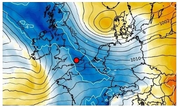 uk and europe weather forecast latest december 12 strong winds outbreaks of rain cover the uk