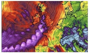 uk and europe weather forecast latest december 14 fierce winds and heavy downpours to bombard britain amid icy weather