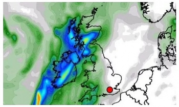 uk and europe weather forecast latest december 15 a persistent band of blustery rain to cover the uk