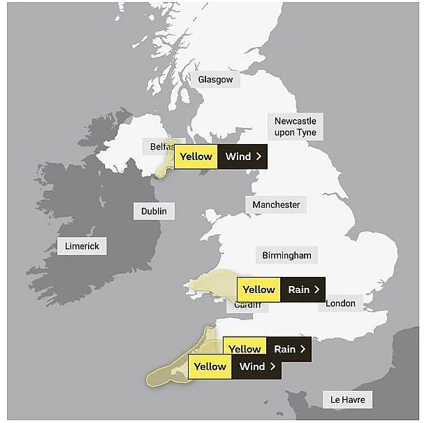 UK and Europe weather forecast latest, December 16: Strong wind and a band of squally rain to cover western parts of the UK