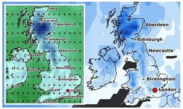 UK and Europe weather forecast latest, December 19: Snow fall to cover over the festival period in Britain