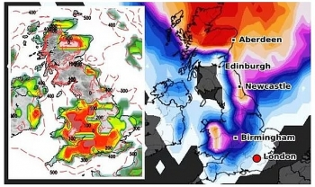 uk and europe weather forecast latest december 23 ferocious arctic snow bomb sets to bombard britain