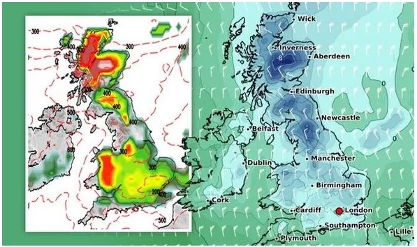 UK and Europe weather forecast latest, December 24: Freezing air, widespread snow to cover the UK over the next couple of weeks