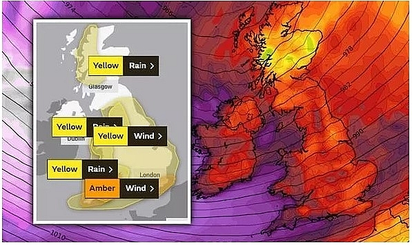 UK and Europe weather forecast latest, December 26: Amber warning for wind and rain this weekend in light of Storm Bella