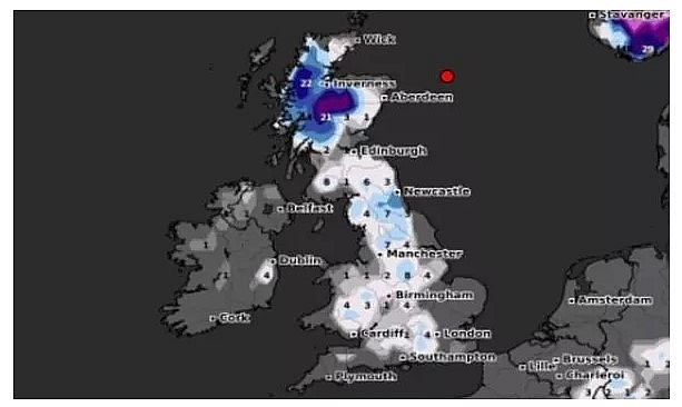 UK and Europe weather forecast latest, December 29: Temperatures plunge as snow showers to smash parts of Britain