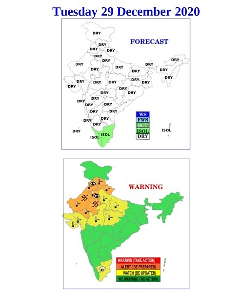 India weather forecast latest, December 29: Dense fog with ground frost conditions to cover northwest India around New Year's Eve