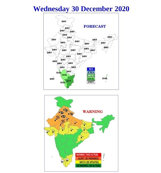 India weather forecast latest, December 30: A cold wave with dense fog set to blanket as temperatures fall