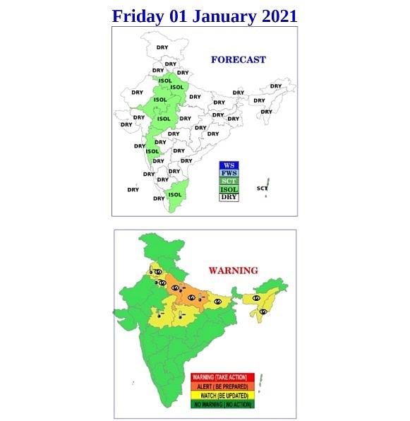India weather forecast latest, January 1: Minimum temperatures in northwest areas to slightly rise