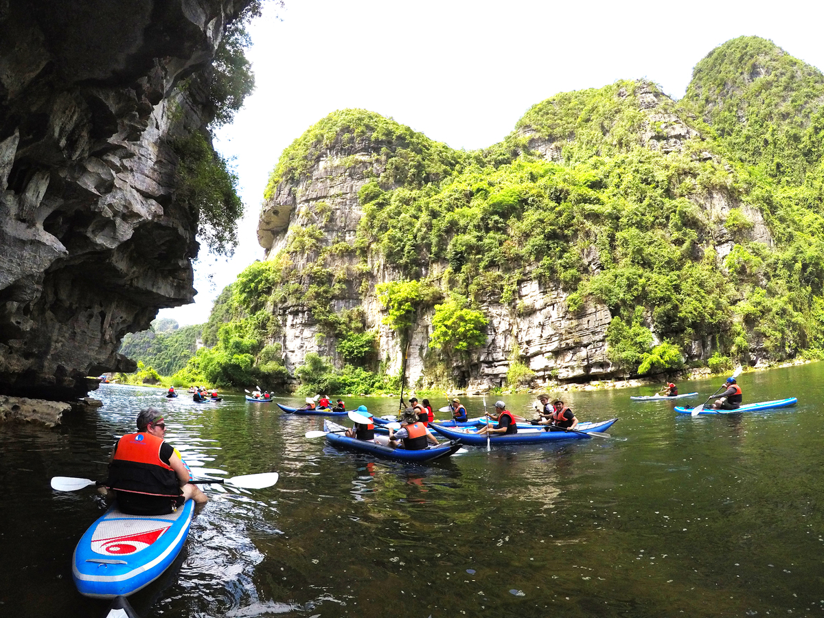 kayaking on one of vietnams most picturesque landscape river