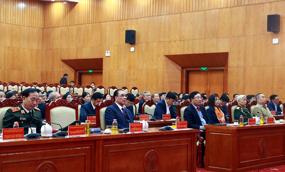 Participants to the ceremony marking 75th anniversary of viet nam's first general election day. (photo: vgp)