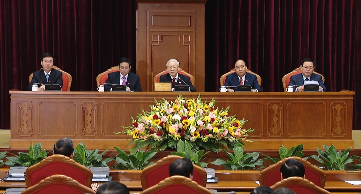 13th tenure politburo of 18 members elected