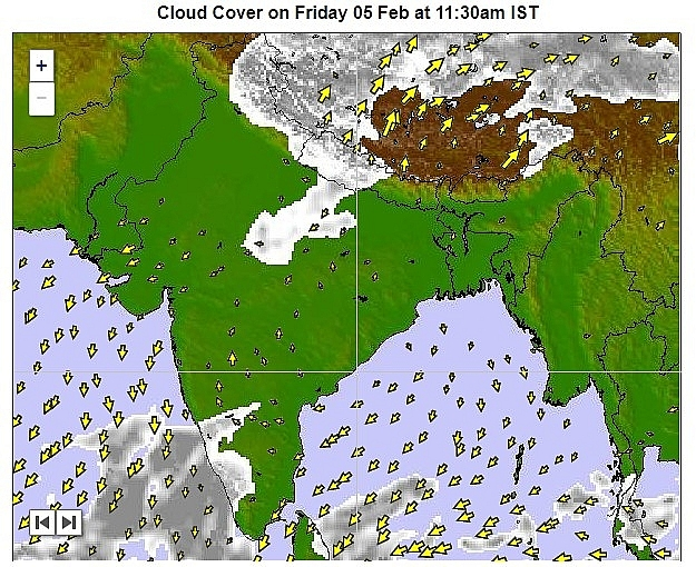 India daily weather forecast latest, february 5: temperature remains near normal and mainly dry expected