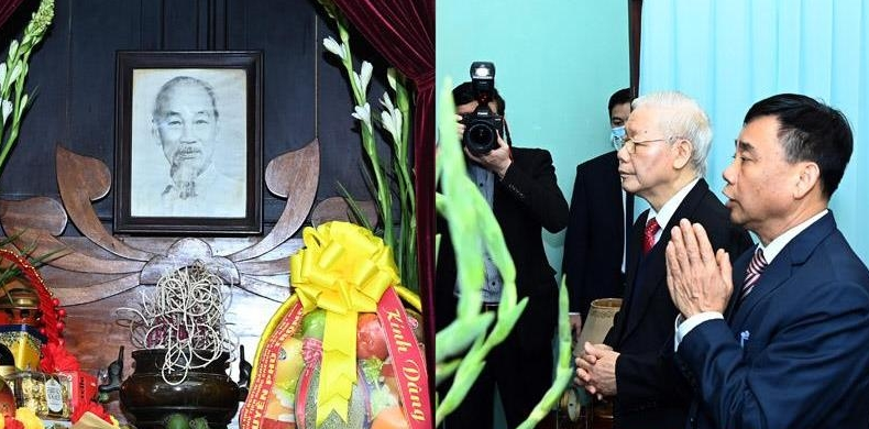 top leader visits house no67 in tribute to president ho chi minh
