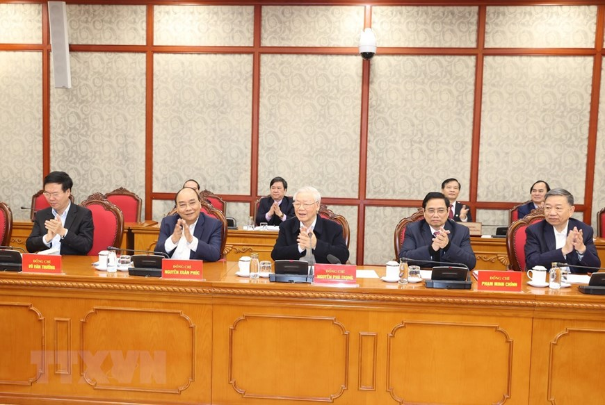 politburo secretariat of party central committee hold first session