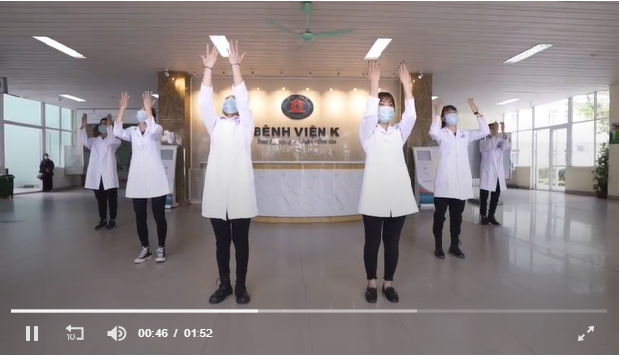 video so hot dance from doctors and nurses in the biggest cancer treatment hospital for covid 19 push back