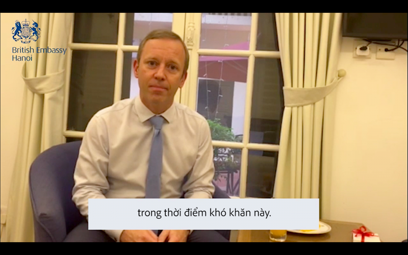 The British Ambassador thanks to Vietnamese government and people for the help