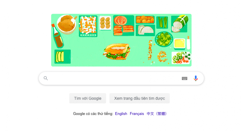 Google symbolizes Vietnam Banh Mi to its image