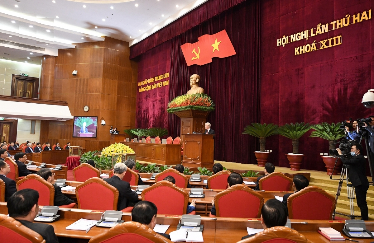 closing ceremony of party central committees second plenum
