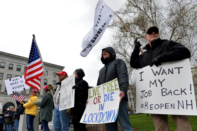 Hundreds of American protests against coronavirus lockdowns amid the pandemic