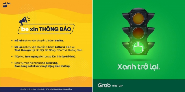 ride hailing grab be goviet simultaneously reopen from april 23