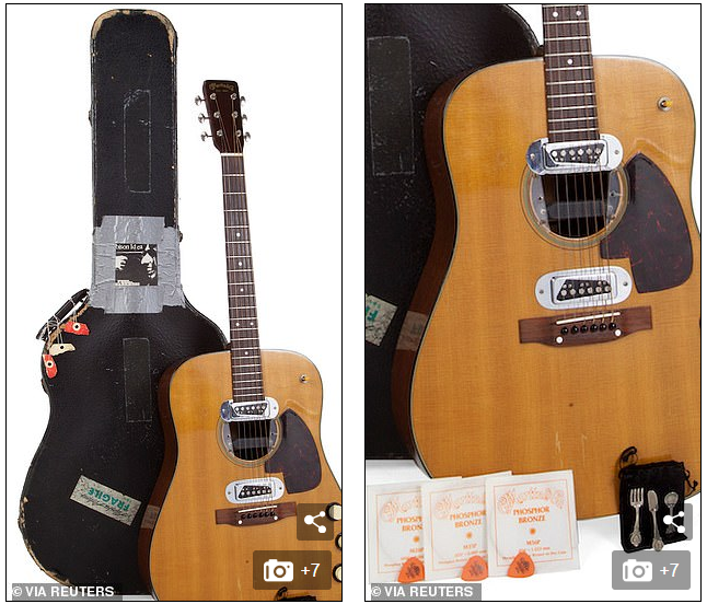generation x icon and nirvana frontman kurt cobains unplugged guitar to garner 1 mn at auction