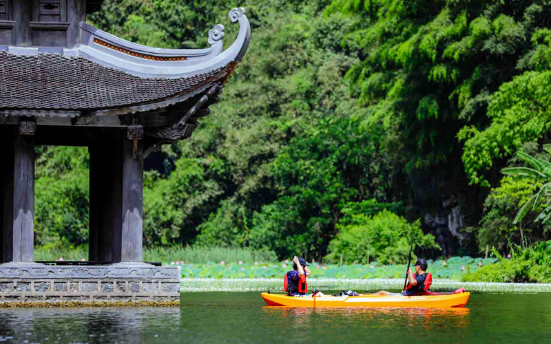 Kayaking on one of  Vietnam's most picturesque landscape river