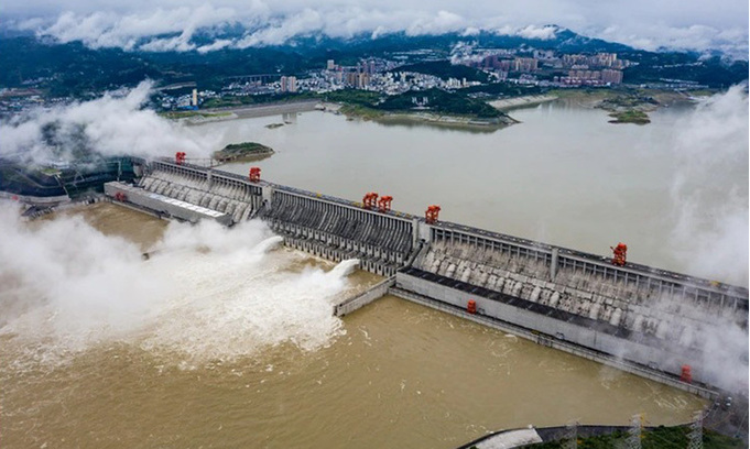 China's Three Gorges Dam is admitted to 'floodwater discharge'