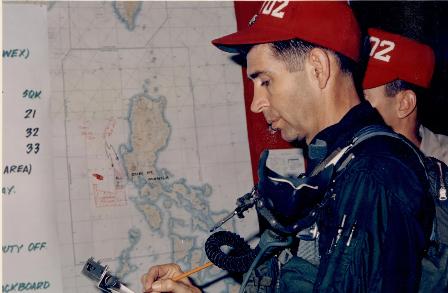 Gene Wilber aboard the USS America preparing for a flight in May 1968, one month before his plane was shot down. FAMILY PHOTO