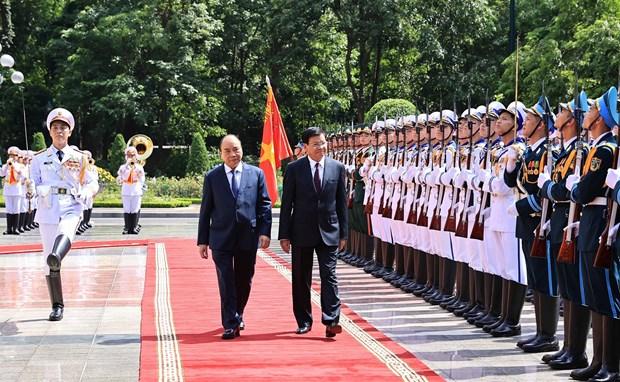 Vietnam welcomes top Lao leader vissiting Hanoi