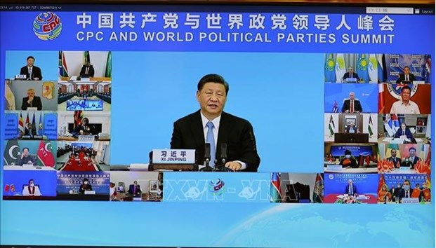 General Secretary of the CPC Central Committee and Chinese President Xi Jinping speaks at the summit. (Photo: VNA)