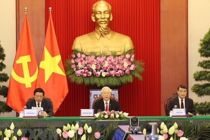 Vietnamese Party Chief Participates in The CPC and World Political Parties Summit