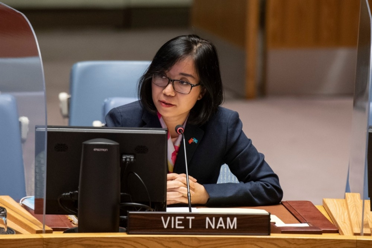 Nguyen Phuong Tra, deputy head of the Vietnamese delegation to the United Nations.