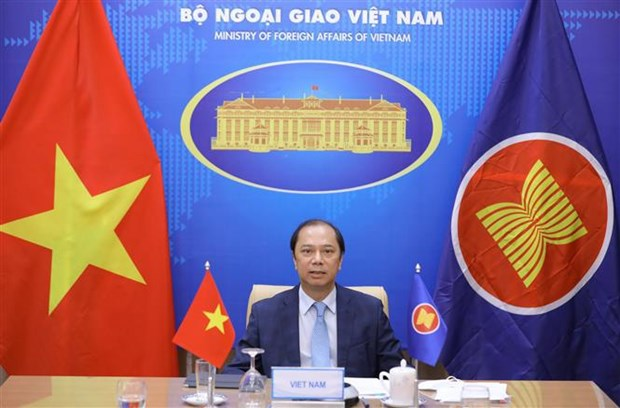 Deputy Foreign Minister Nguyen Quoc Dung, head of SOM ASEAN Vietnam (Photo: VNA)